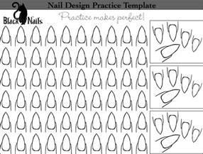 Nail Shape Template by Nail Design Practice Sheet Bonus Versions Black