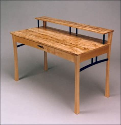 fine woodworking desks bone desk  spalted maple