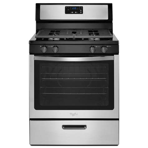 whirlpool gas range reviews shop whirlpool freestanding 5 1 cu ft gas range stainless
