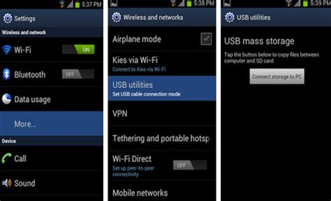how to connect android phone to computer how to connect android to pc with usb mass storage mode