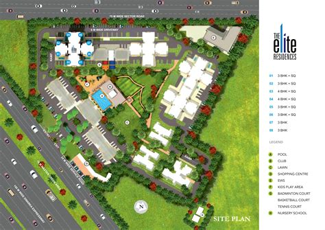 site layout elite residence