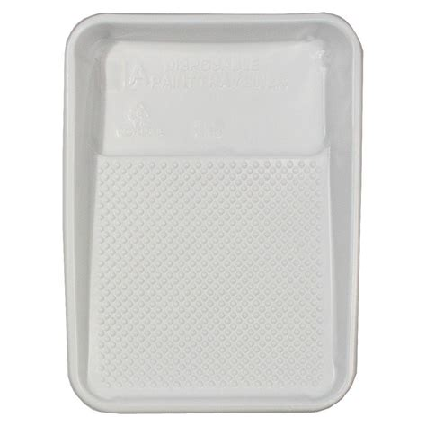 home depot paint tray 9 in x 15 1 4 in plastic paint tray liner rm 411 the