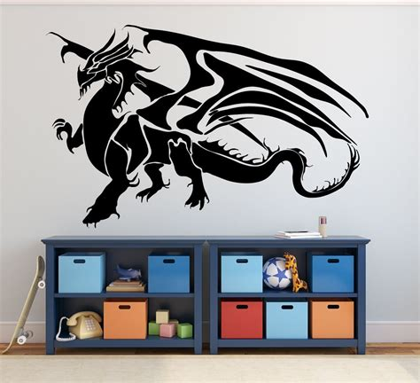 medieval dragon home decor dragon wall decals fantasy wall decor medieval dragon