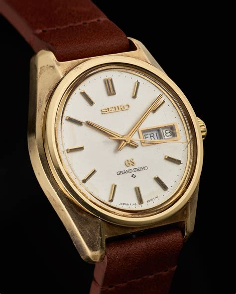 grand seiko 6146 8000 early cap gold the grand