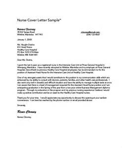 Cover Letter Nursing Sle by Nursing Cover Letter Exle 10 Free Word Pdf
