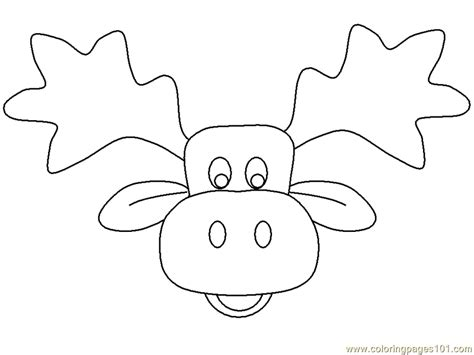 printable moose mask if you give a moose a muffin coloring pages coloring home