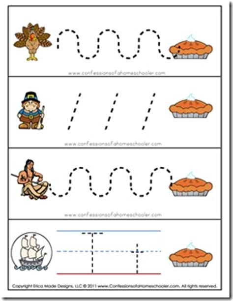 thanksgiving pattern worksheets kindergarten thanksgiving preschool free printables confessions of a