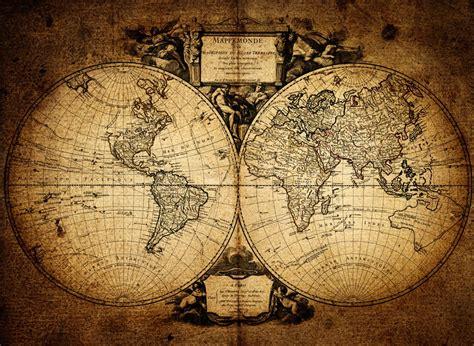 World Map Wall Mural Wallpaper - 1752 vintage world map wallpaper wall mural by loveabode