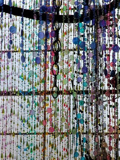 beaded window curtain suspended animation