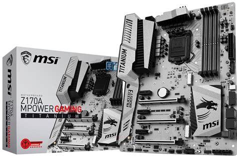 msi z170a mpower gaming titanium placa base blanca para gamers el chapuzas inform 225 tico