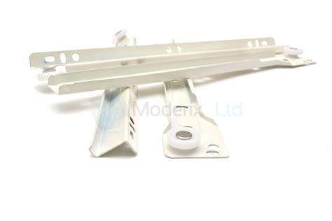 roller drawer runners metal white kitchen size 250mm