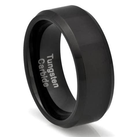 mens tungsten carbide ring wedding band black jewelry 2003