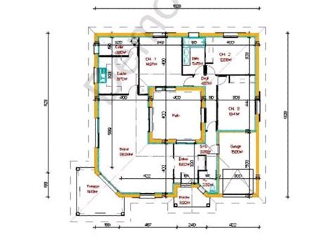 Plan Maison Patio Central by Plan Maison Patio Recherche проекты загородных