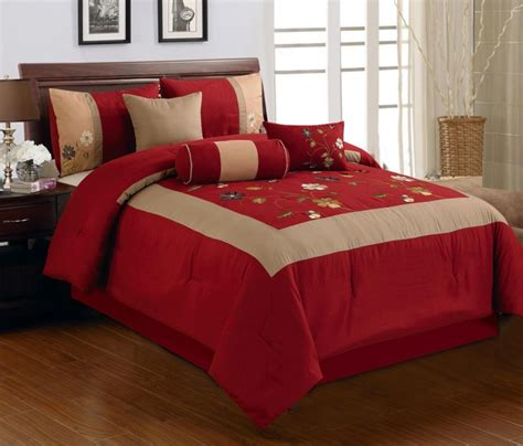 Red King Comforter Sets: Luxury Bedroom Ideas, Retro Asian