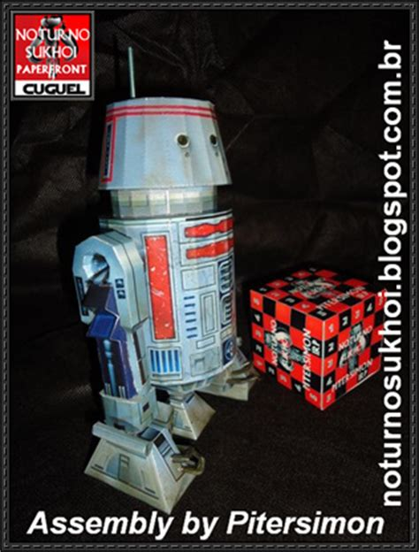 Origami R5 01 - wars r5 series astromech droid free paper model