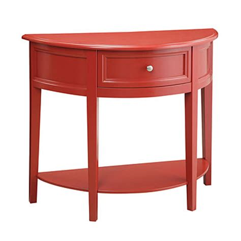 red accent tables red semi circle accent table big lots