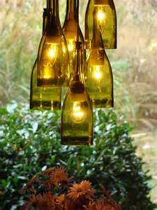 Recycled Wine Bottle Chandelier Recycled Wine Bottle Lighting Popsugar Home