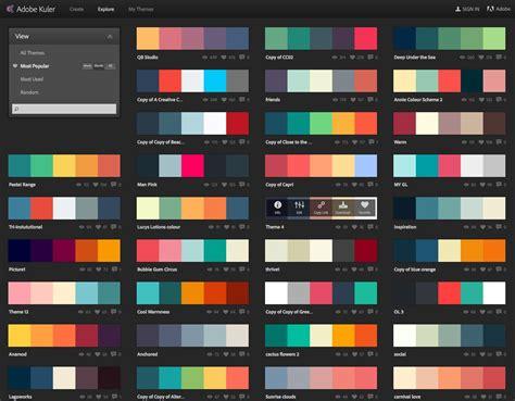 popular color schemes most popular color schemes this month sept 2014 kuler