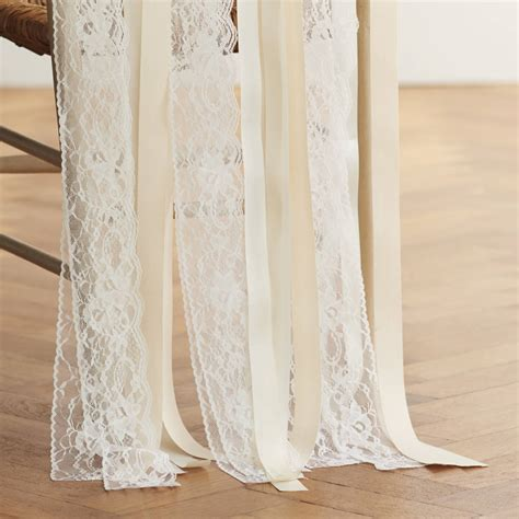 wedding ribbon lace wedding chair ribbons by just add a dress