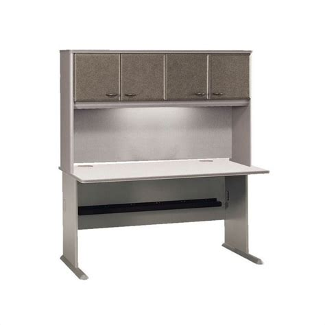 60 Computer Desk Series A 60 Quot Computer Desk With Hutch In Pewter Wc14560 Pkg4
