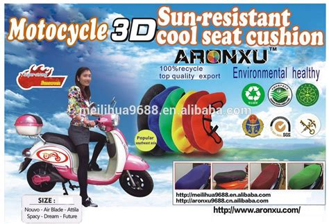 anti slip motorcycle seat cover custom 3d motorbike seat cover antislip breathable