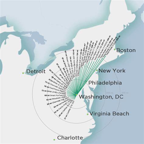 comparison   ev ranges shown   map plugless power