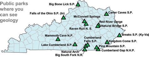 map kentucky park kentucky earth science information sources