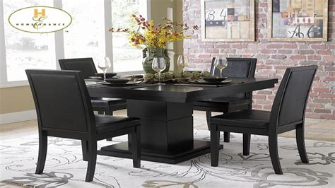 Black Kitchen Dining Sets Black Dining Table Setsdining Black Dining Table Set