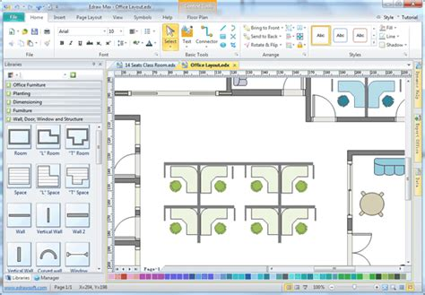 free space planning tool facility planning software edraw