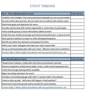 9 event timeline templates free sle exle format