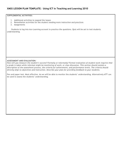 lesson plan template ict xmss ict lesson template sec 2 vol n surf area of pyramid