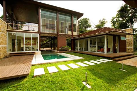 house backyard sustainable tropical home in costa rica sports cool design