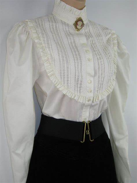 Stradivarius Ruffled Top With Swiss Embroidery vintage edwardian style high ruffle neck