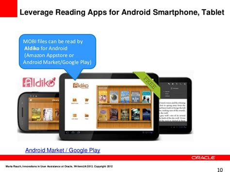 apps to read mobi html innovations in user assistance