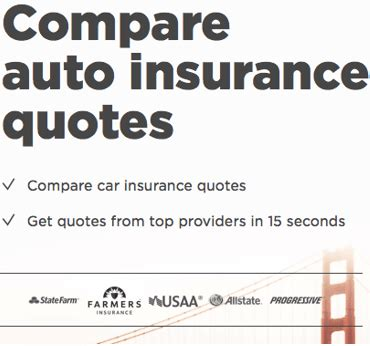 Auto Insurance Quotes Comparison by Top 6 Best To Compare Car Insurance Rates Quotes