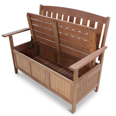outdoor wooden bench with storage wooden garden storage bench homegenies