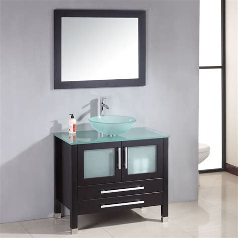 Double Bathroom Vanity Ideas cambridge 36 inch solid wood glass vessel sink set