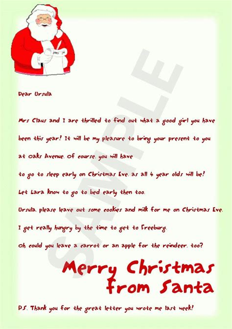 Thank You Letter Santa Template Free Santa Letters Santa Letters Free Letters From Santa Search And Letters