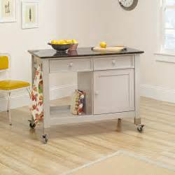 original cottage mobile kitchen island cart sauder rainwater