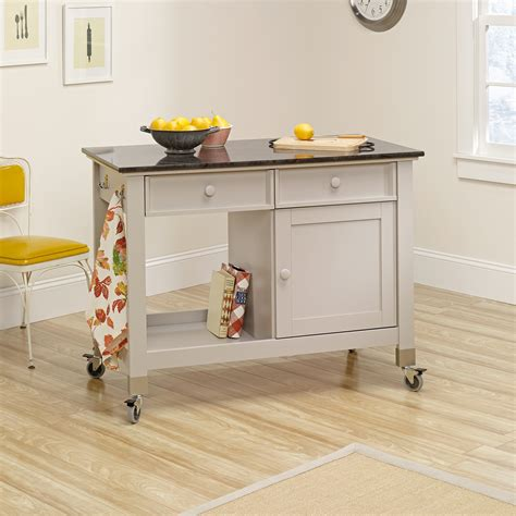 Kitchen Mobile Islands Original Cottage Mobile Kitchen Island Cart 414405 Sauder
