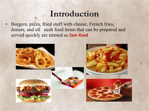 Fast Food Fast Food Ppt Slides