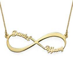 Personalized Silver Gifts Infinity Name Necklace In Gold Plating Mynamenecklace