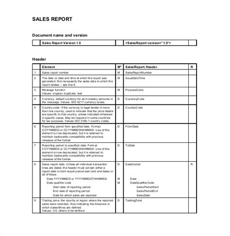sales report templates 10 free sle exle format