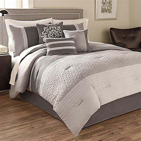 Buy Hallmart Collectibles Theo 8 Piece Queen Size Bed Bath Beyond Comforter Sets
