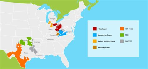 aep power outage map service territory