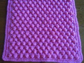 Crochet Popcorn Stitch Baby Blanket by Popcorn Stitch Afghan Crochet Pattern In Three Sizes