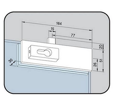 Patch Lock Alto Us 10 dorma us10 top and bottom corner patch lock the wholesale glass company