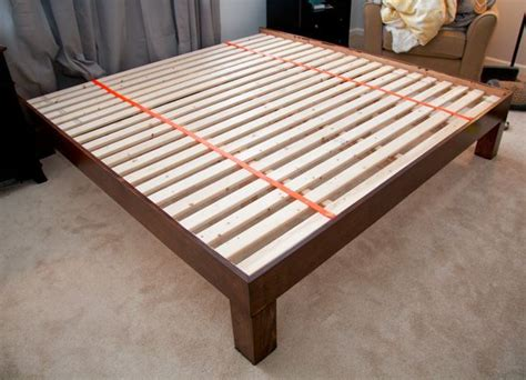 king bed frame plans diy hand built king sized wood platform bed see post for