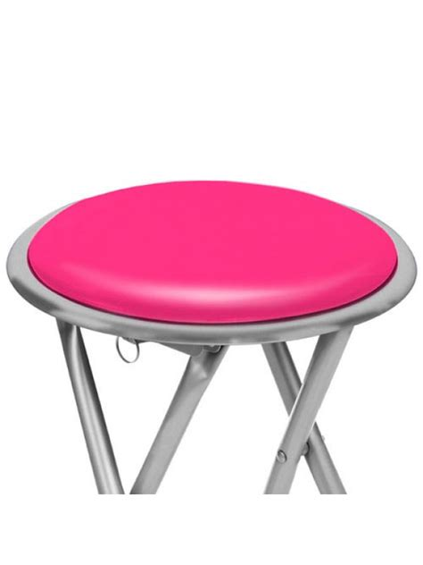 Pink Stool Chair by Silver Frame Folding Padded Stool Seat Chair Pink
