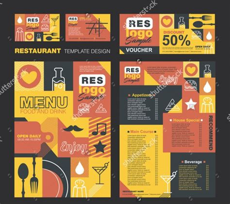 menu card design template images 20 menu card designs psd vector eps